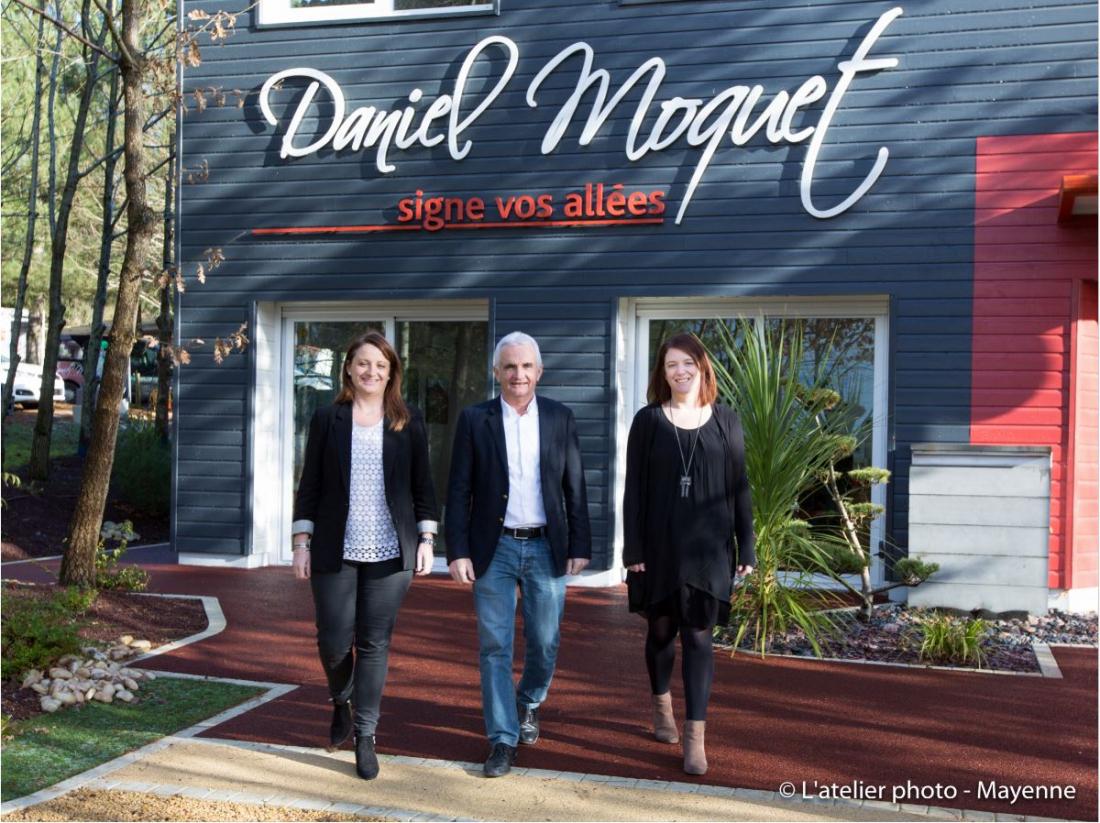 Daniel, Pauline et Camille Moquet
